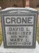 Profile photo:  David L. Crone