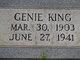 Genie <I>Haney</I> King