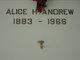 Profile photo:  Alice Helen Andrew