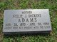 Nellie J. <I>Dickens</I> Adams