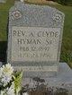Profile photo: Rev A. Clyde Hyman, Sr