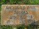 Profile photo:  Archibald Paul Brooks