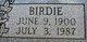 Birdie Bradley
