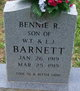 Profile photo:  Bennie R. Barnett