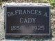 Dr Frances A. Cady