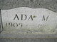 Profile photo:  Ada May <I>McDonley</I> Ake