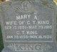 Mary Ann <I>White</I> King