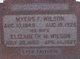 "Elizabeth M. ""Lizzie"" <I>Mawson</I> Wilson"