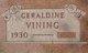 "Geraldine ""Gerry"" <I>Stanley</I> Vining"