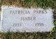 "Profile photo:  Patricia Lenore ""Pat"" <I>Parks</I> Haber"