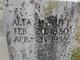 Alta E <I>Aderholt</I> McNutt