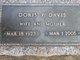 Doris Pauline <I>Bennett</I> Davis