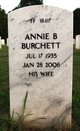 Annie Bertha <I>Tutton</I> Burchett