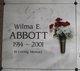 Profile photo:  Wilma E. Abbott