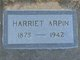 "Profile photo:  Harriet Kendall ""Hattie"" <I>Fountain</I> Arpin"
