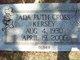 Profile photo:  Ada Ruth <I>Cross</I> Kersey