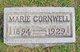 """Ethel Marie """"Marie"""" <I>Ingels</I> Cornwell"""