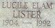 Lucile <I>Elam</I> Lister