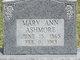 Mary Ann <I>Self</I> Ashmore