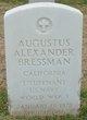 Profile photo: Lieut Augustus Alexander Bressman