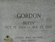 Profile photo:  Betty Jean <I>Davis</I> Gordon
