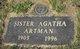 Profile photo: Sr Agatha Artman
