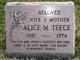 Profile photo:  Alice M Teece