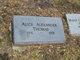 Profile photo:  Alice <I>Alexander</I> Thomas