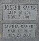 Profile photo:  Maria Sayer