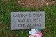 Martha Emeline <I>Vance</I> Inman