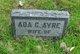 Profile photo:  Ada C Ayre