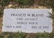 "Profile photo:  Francis Marion ""Frankie"" Bland"