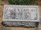Profile photo:  Alice R. <I>Kidd</I> Carman