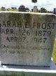Sarah Elizabeth <I>Smith</I> Frost