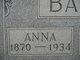 "Profile photo:  Anna Emaline Reid ""Annie"" <I>Cameron</I> Ball"