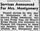 Profile photo:  Ann <I>Moore</I> Montgomery