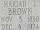 Mariah Louisa <I>Slade</I> Brown