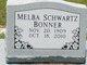 Melba <I>Schwartz</I> Bonner