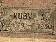 Profile photo:  Ruby Mae <I>Simmons</I> Bobbitt