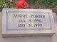 Profile photo:  Jannie Porter