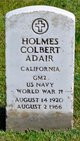 "Holmes Colbert ""Buck"" Adair"