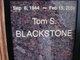 Profile photo:  Tom S. Blackstone