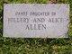 Profile photo:  Infant Daughter Allen