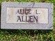 Profile photo:  Alice Lugene <I>Harris</I> Allen