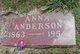 Profile photo:  Anna <I>Briggs</I> Anderson