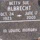 Profile photo:  Betty Sue Albrecht