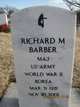 Profile photo: Maj Richard M. Barber