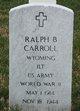 Ralph Bertram Carroll, Sr