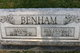 Profile photo:  Benjamin Frank Benham
