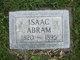 Profile photo:  Isaac Abram